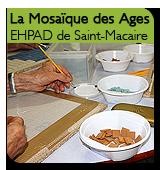 Atelier mosaïque avec les résidents de l'EHPAD de Saint-Macaire