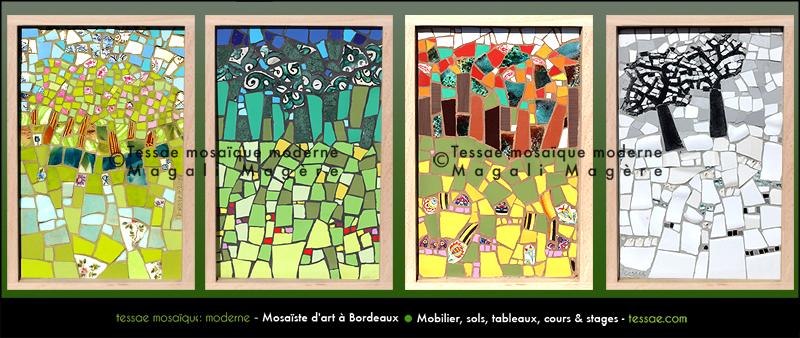 Tableaux tessae mosa que moderne for Reproduction de tableaux modernes