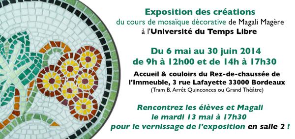 Exposition Mosaïque - Université du Temps Libre, Bordeaux