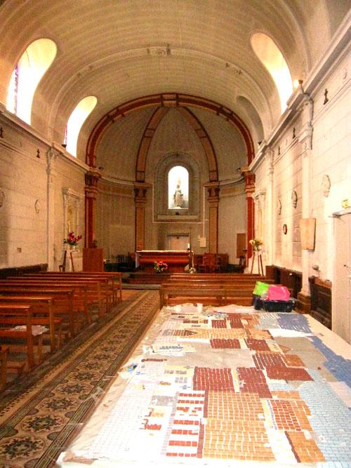 Ehpad, atelier mosaïque à Saint-Macaire