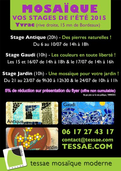 Les stages mosaïque de l'été - Bordeaux, Yvrac