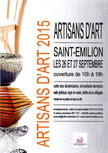 Artisans d'Art 2015 à Saint-Emilion
