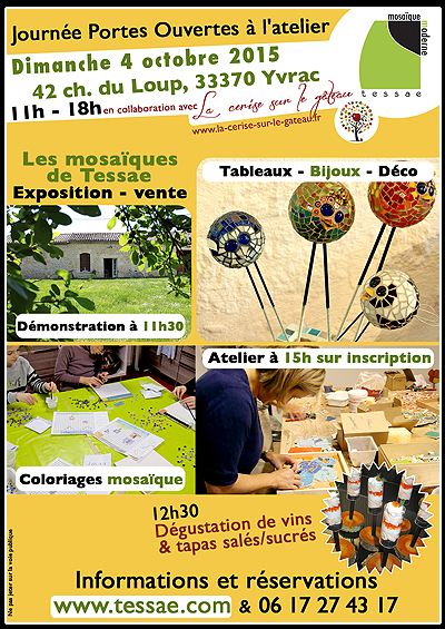 Atelier mosaique - Bordeaux, Yrac, Gironde