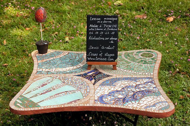 Création d'une table en mosaique - Bordeaux