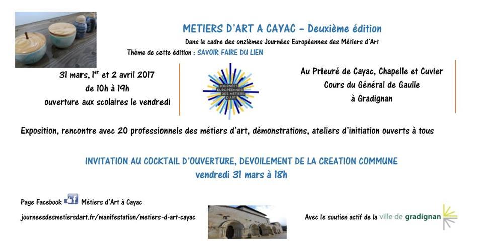 Journées Européennes des Metiers d'Art 2017 - Cayac