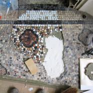 Rénovation d'un sol en mosaïque à Bordeaux (chantier en cours)