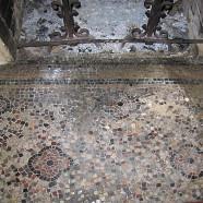 Rénovation d'un sol en mosaïque à Bordeaux (avant chantier)