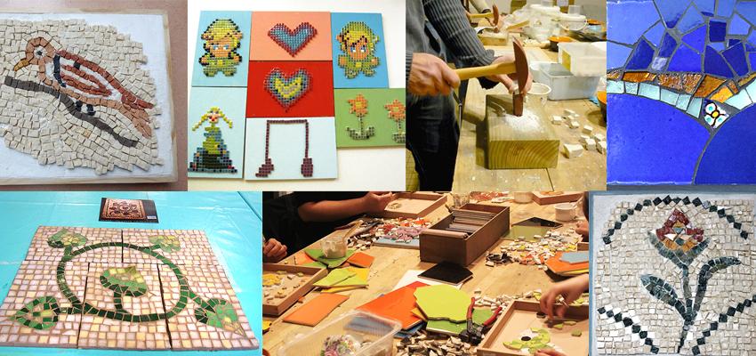 Stages ateliers mosaique enfants et adultes a Bordeaux-Gironde