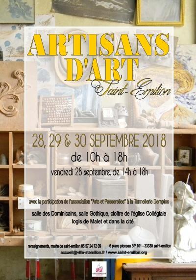 Artisans d'Art, Saint-Emilion 2018