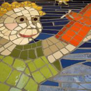 Mosaïque murale Le Petit Prince, école maternelle Antoine de Saint-Exupéry (détail), Libourne – 120x150cm