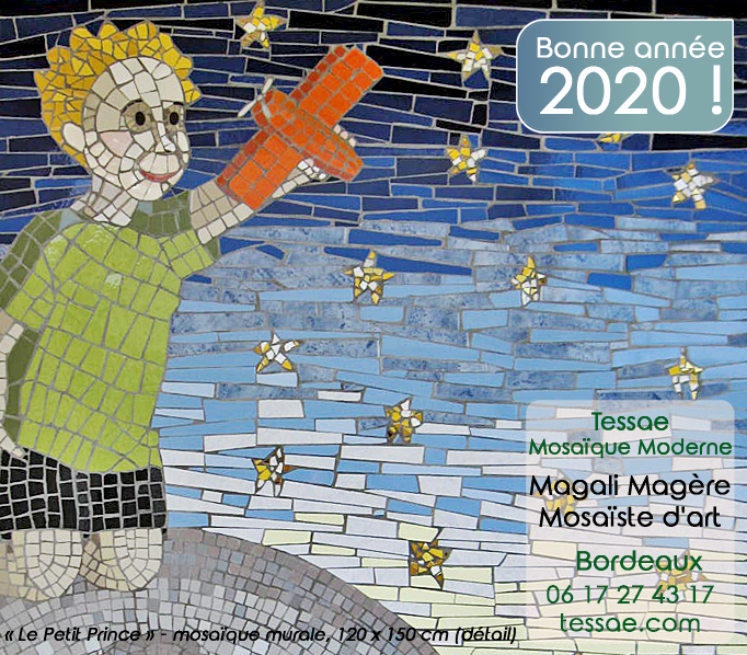 Mosaïque Le Petit Prince - Magali Magère, mosaïste d'art à Bordeaux -