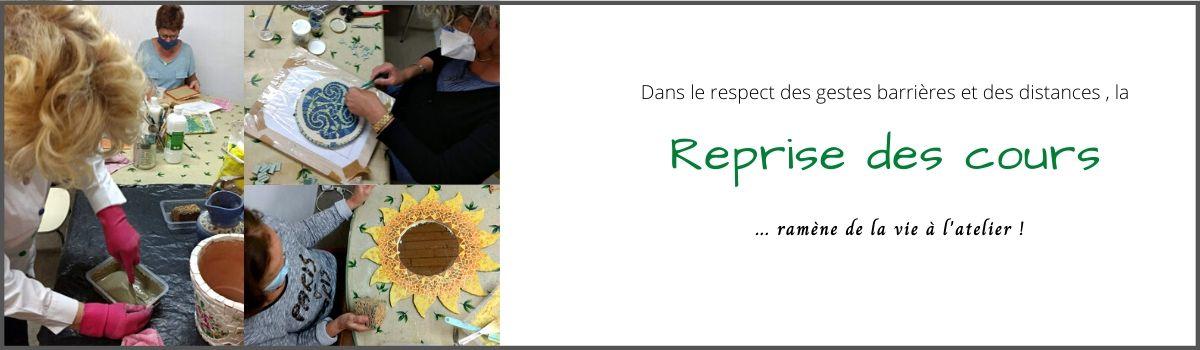 Reprise des cours et stages de mosaïque à Bordeaux - Tessae Mosaïque Moderne -
