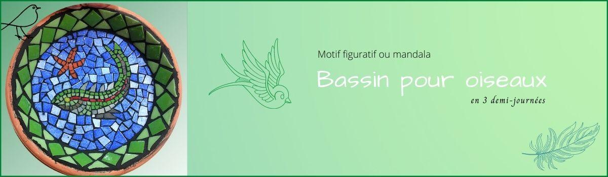 Stage mosaïque bassin oiseaux Talence Begles Pessac Tessae