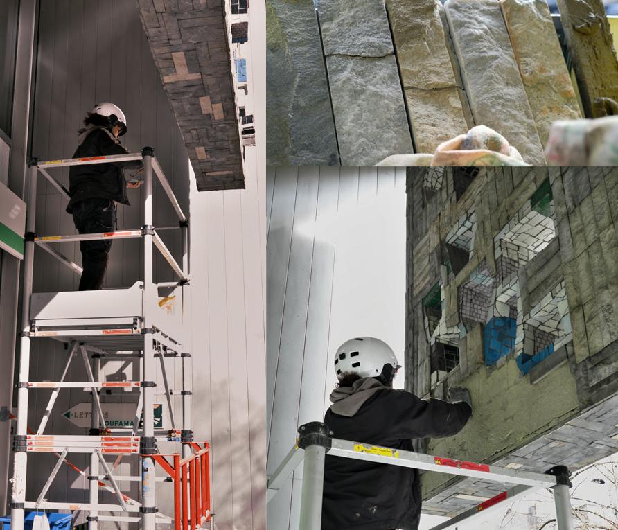 Renovation d'une mosaïque à Bordeaux