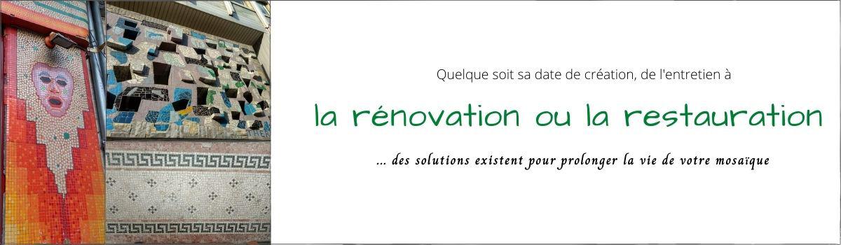 Rénovation d'une mosaïque à Bordeaux : Maison du Paysan-Immeuble Ferrère