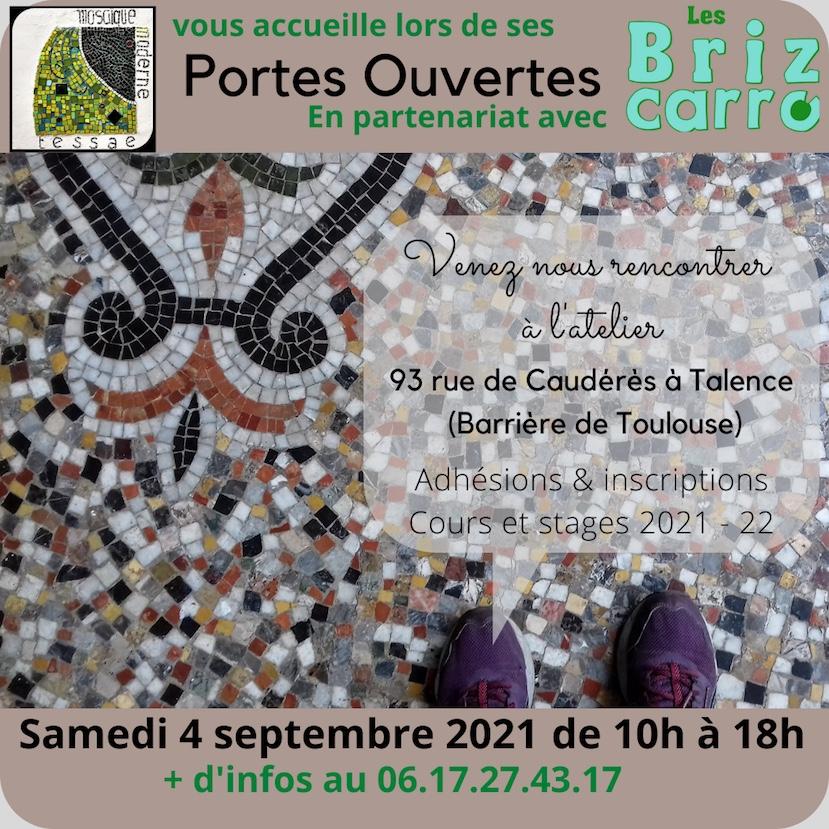 Stages et cours mosaïque Bordeaux, Talence
