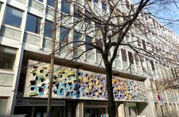 Restauration de la mosaïque de Pierre Théron (années 70) – Maison du Paysan/Immeuble Ferrère, Bordeaux